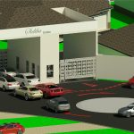 Flora Gardens Site Plan - Rendering - Three Dimensional View Entrance Guard House