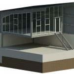 Duel Co Investments Go Cart Track Rev 1 Opt 2 - Rendering - Three Dimensional PVC Frame View