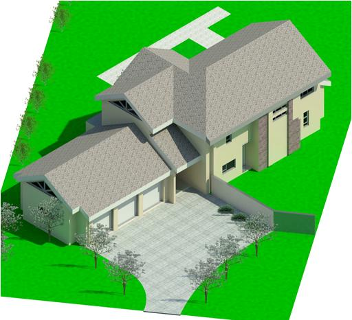 Eliqwa Estate Stand 1147 - Rendering - 3 Dimensional Front View