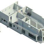 Herbst House - Rendering - Three Dimensional First Floor Step 4 Brake Big Wall