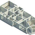 Herbst House - Rendering - Three Dimensional Ground Floor Step 3 Columns