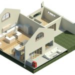 Huis-Lomard-Vaal-View-Existing-Plans----Rendering---Three-Dimensional-Kitchen-View